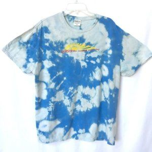 Easy Like Sunday Morning Bleach Tie Dye Shirt XL